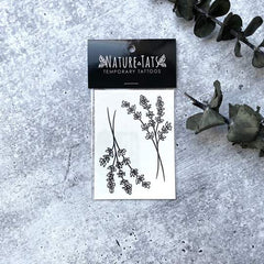 Lavender Twigs Temporary Tattoo