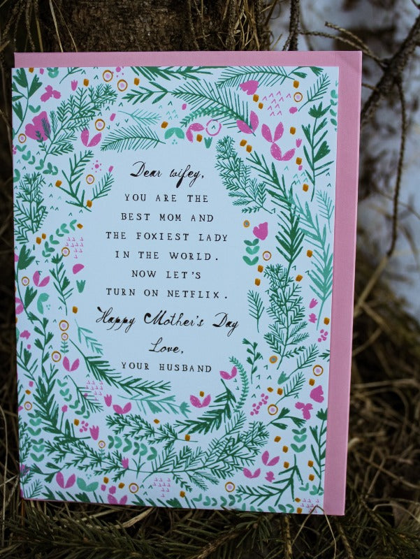 Foxy Netflix Mother's Day Card
