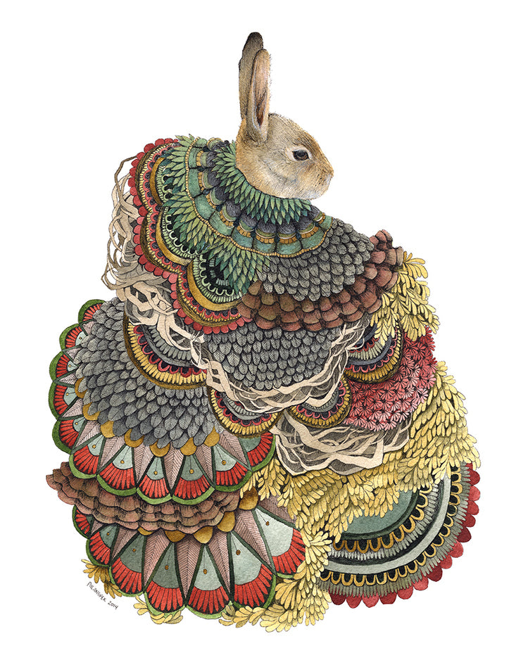 """Quilted Forest : The Rabbit"" by Jess Polanshek"