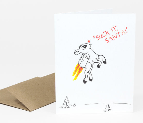 Suck it Santa Card