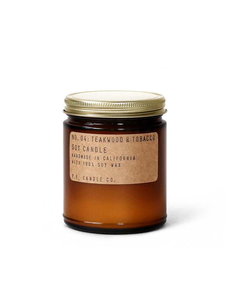 NO. 04: Teakwood & Tobacco - 7.2 oz Soy Candle