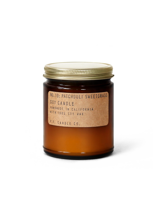 NO. 19: Patchouli & Sweetgrass - 7.2 oz Soy Candle
