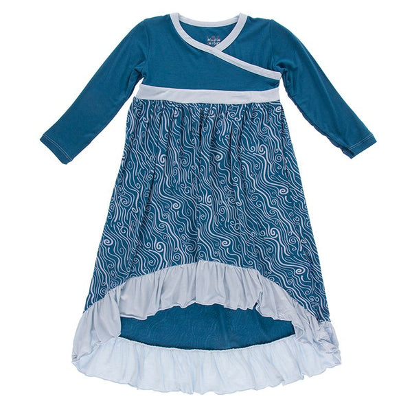 Hi Lo Maxi Dress: Whirling River (2T- SM 6/8)