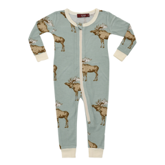 Blue Moose Bamboo Pajamas - Zipper Closure