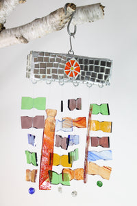 Mosaic Chime with Flower