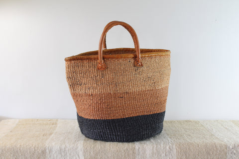 Striped Sisal Market Bag