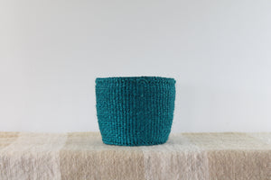 Teal Sisal Basket