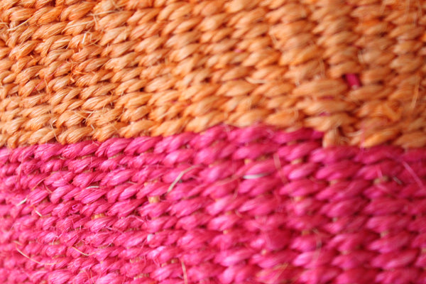 Pink and Orange Sisal Basket