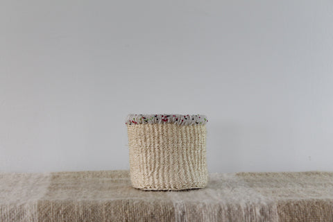 Cream With Beads Sisal Basket
