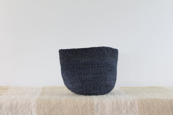 Dark Blue Sisal Basket