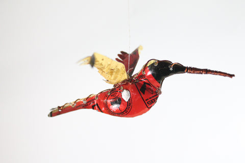 Recycled Metal Hummingbird Small