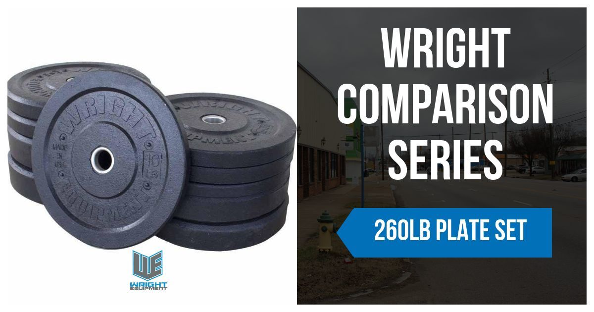 Wright Comparison Series: 260LB Set of Crumb Rubber Bumper Plates