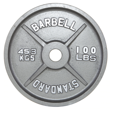100 lb. Gray Olympic Weight Plate