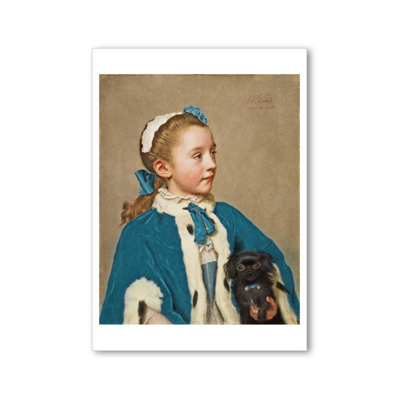 Liotard - <i>Portrait of Maria Frederike at Age Seven</i> - Postcard
