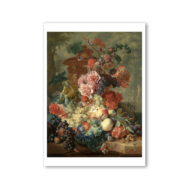 Van Huysum - <i>Fruit Piece</i> - Postcard