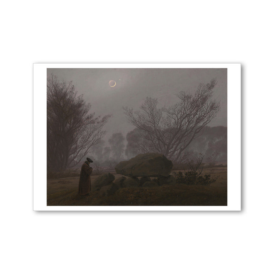 Friedrich - <i>A Walk at Dusk</i> - Postcard