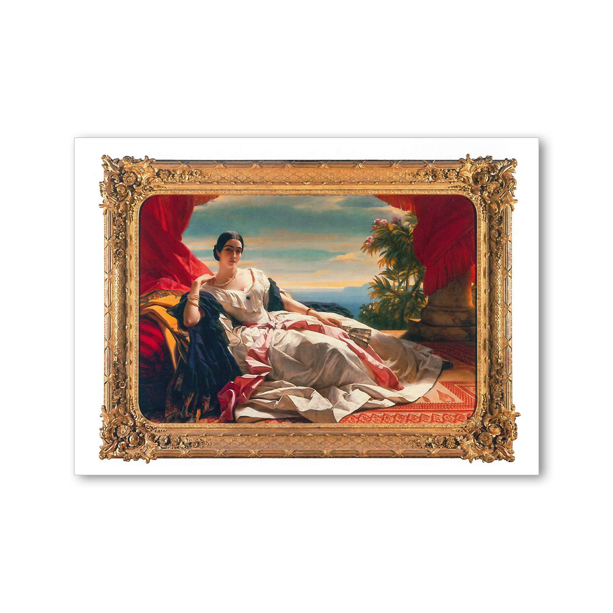 Winterhalter - <i>Portrait of Leonilla</i> - Postcard