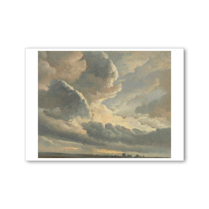 Denis - <i>Study of Clouds with a Sunset Near Rome</i> - Postcard