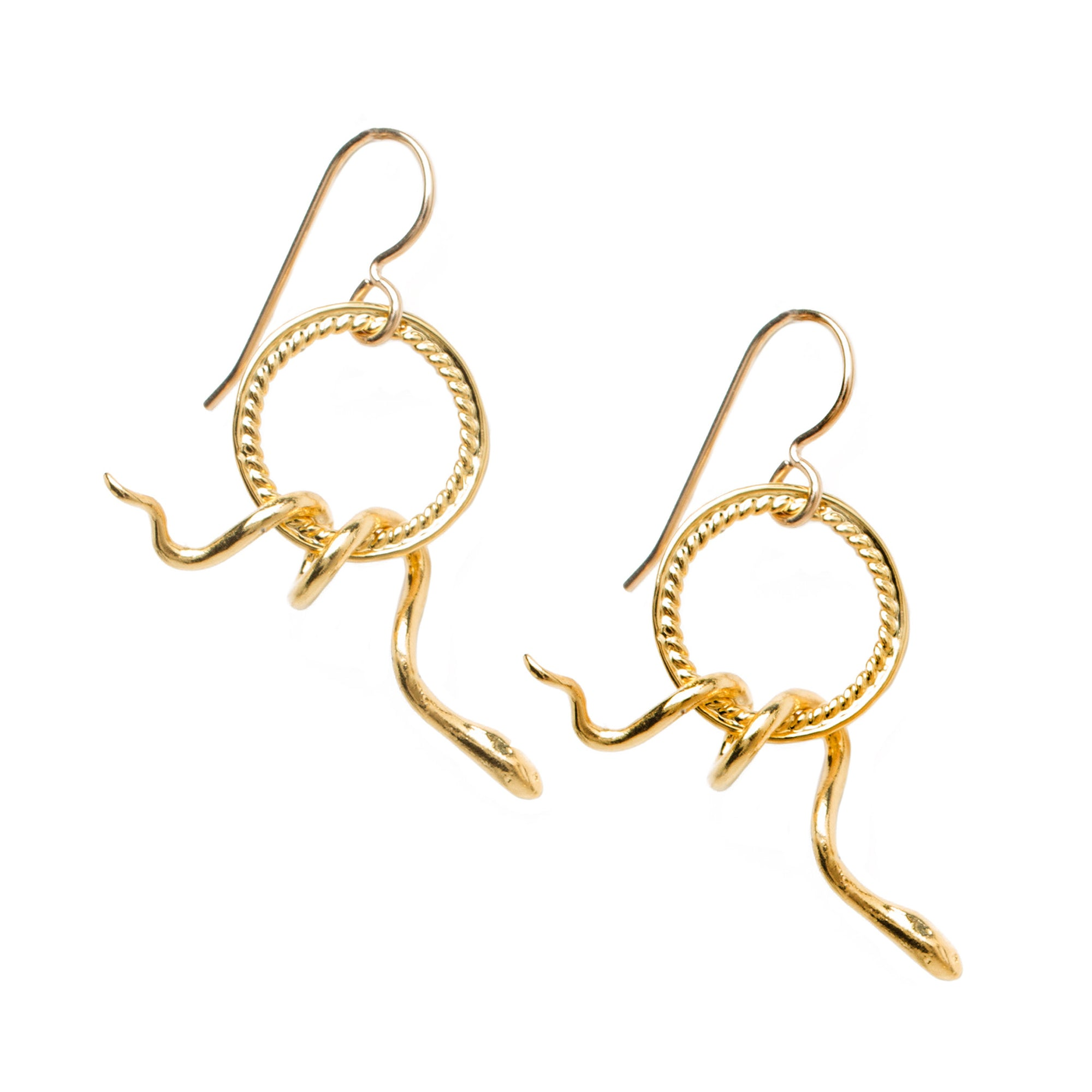 Snake Earrings - Gold-Plated