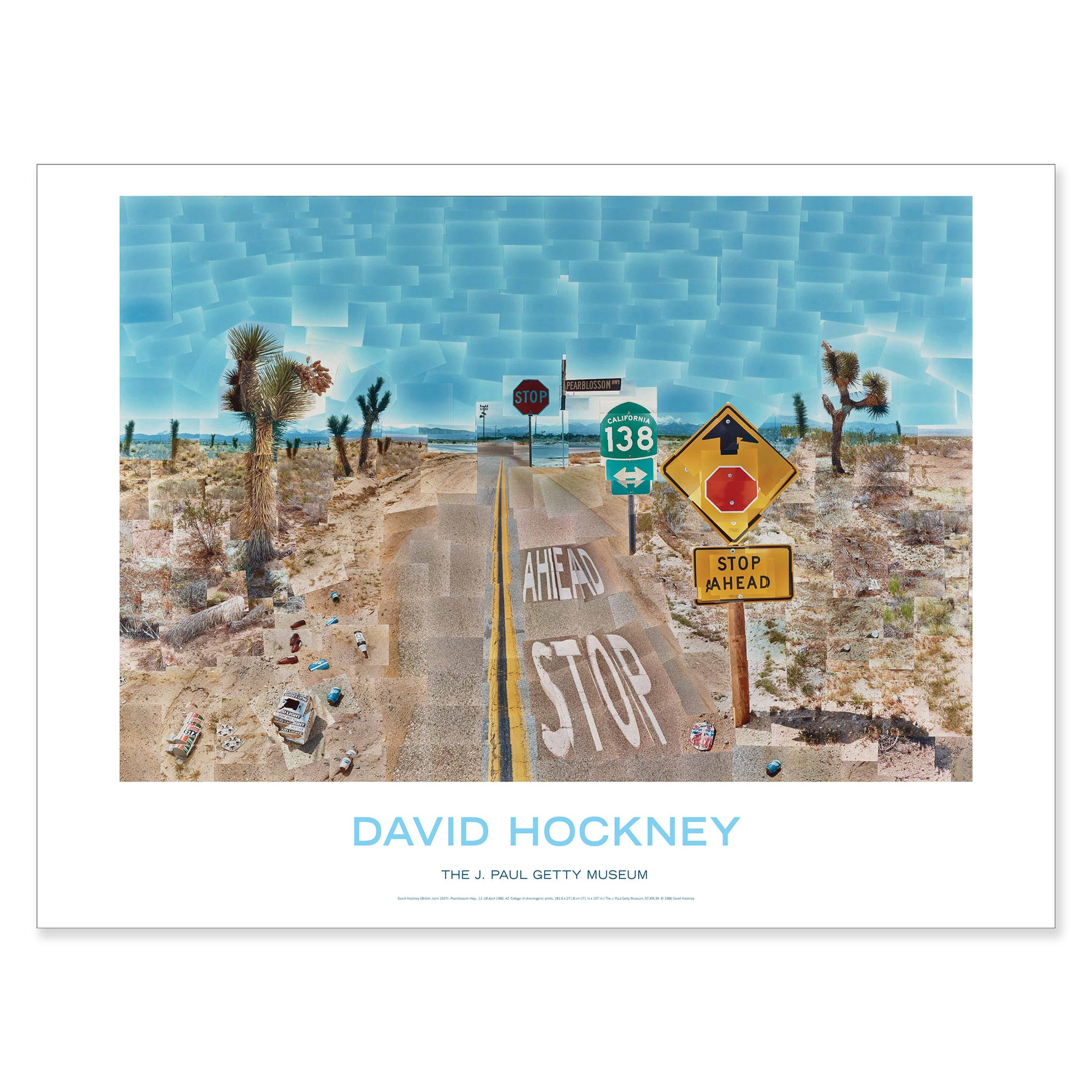 David Hockney - Pearblossom Hwy 11 - 18th April 1986 #2 - Poster