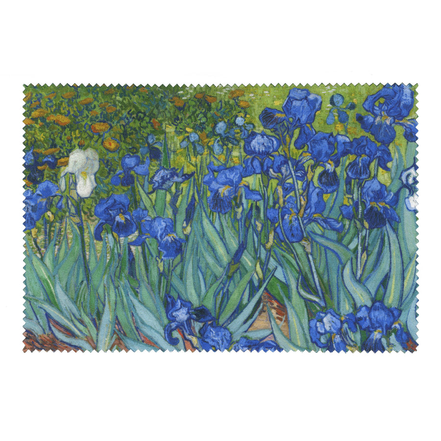 Van Gogh  - <i>Irises</i> - Lens Cloth + Postcard