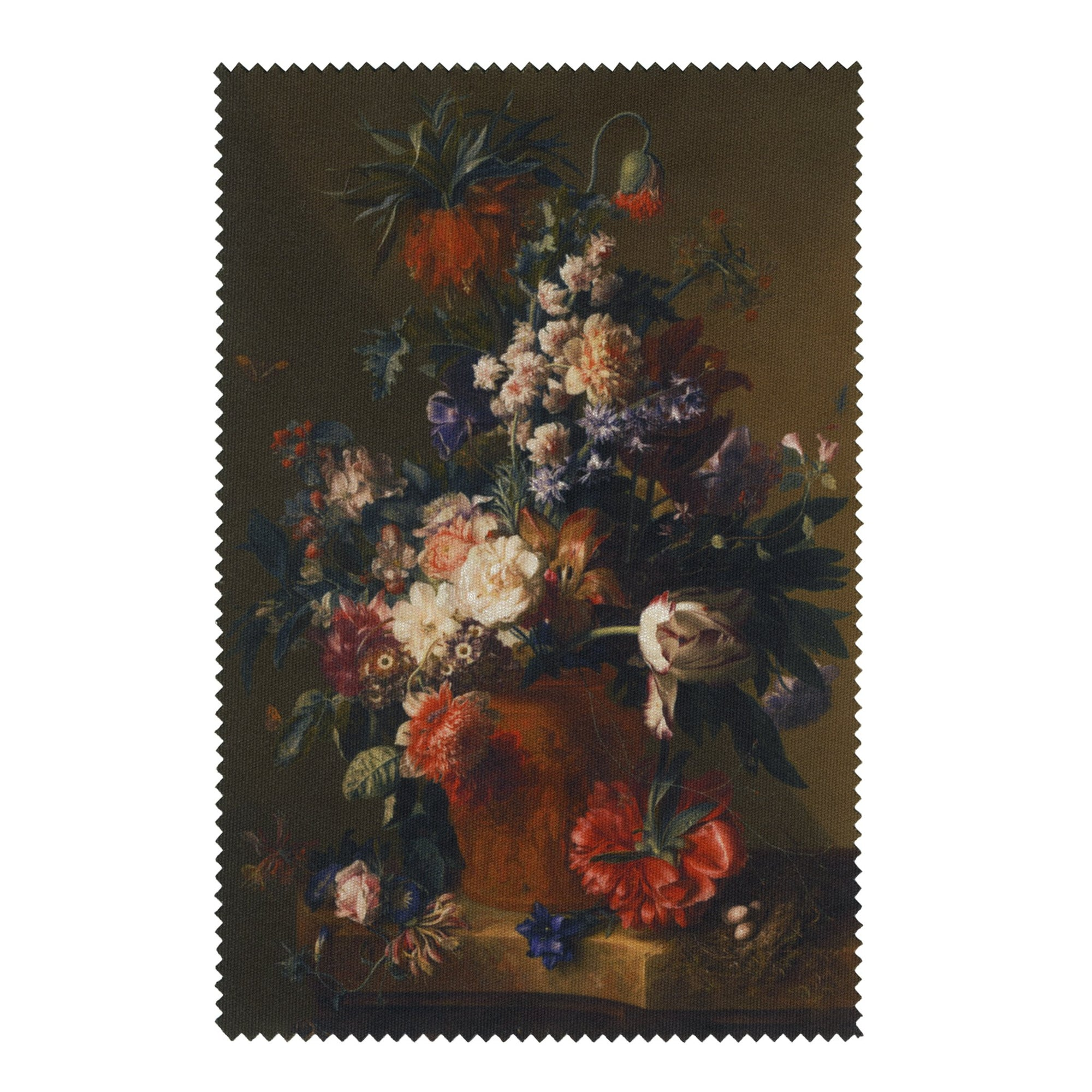 Van Huysum - <i>Vase of Flowers</i> - Lens Cloth + Postcard