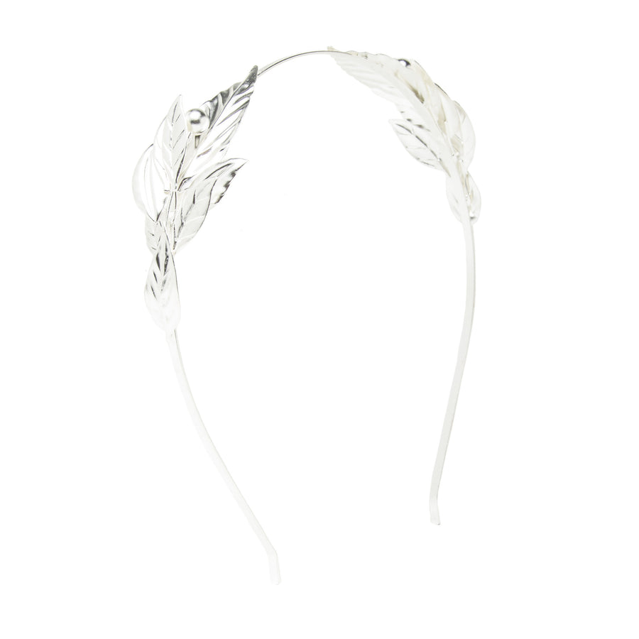 Laurel Leaf Headband -  Silver Plated