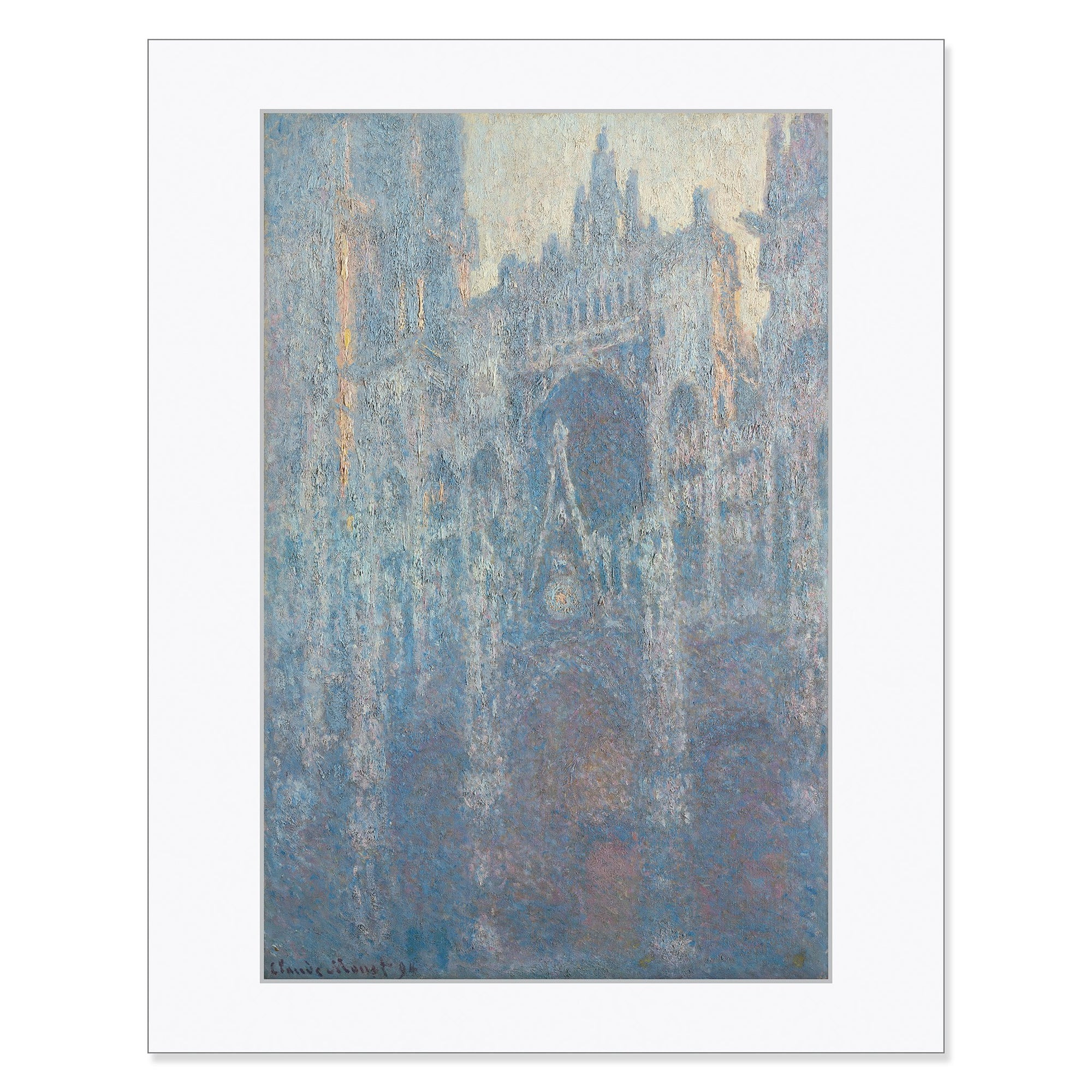 "Monet - <i>The Portal of Rouen Cathedral in Morning Light </i> 11"" x 14"" Matted Print"