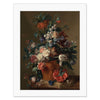 "Van Huysum - <i>Vase of Flowers</i> 11"" x 14"" Matted Print"