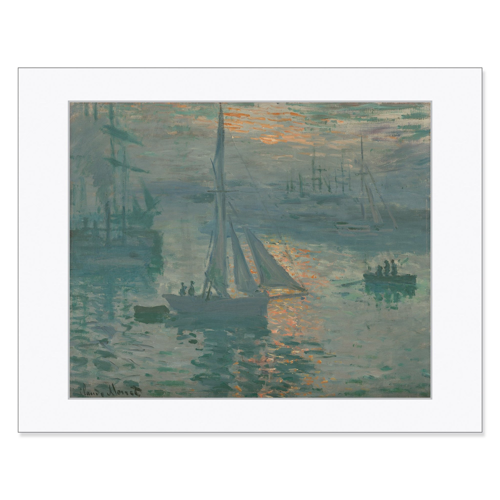 "Monet - <i>Sunrise (Marine) </i> 11"" x 14"" Matted Print"