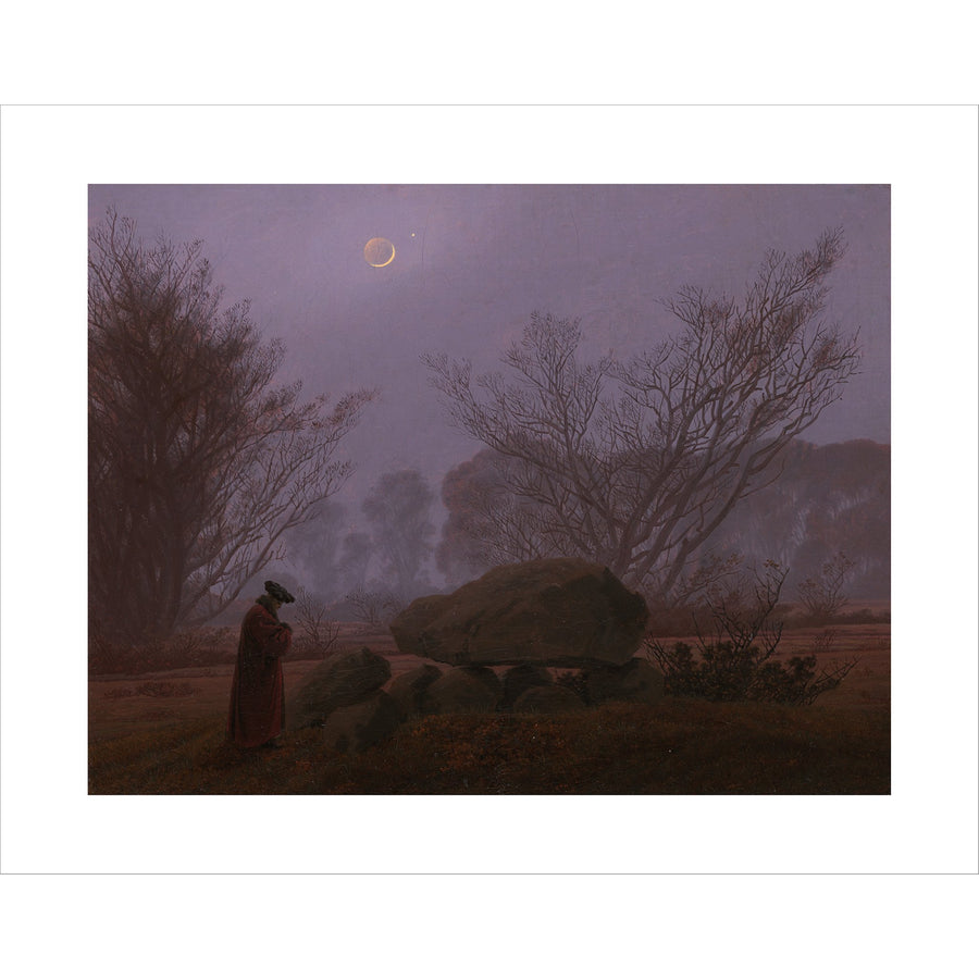 "Friedrich - <i>A Walk at Dusk</i> 11"" x 14"" Print"
