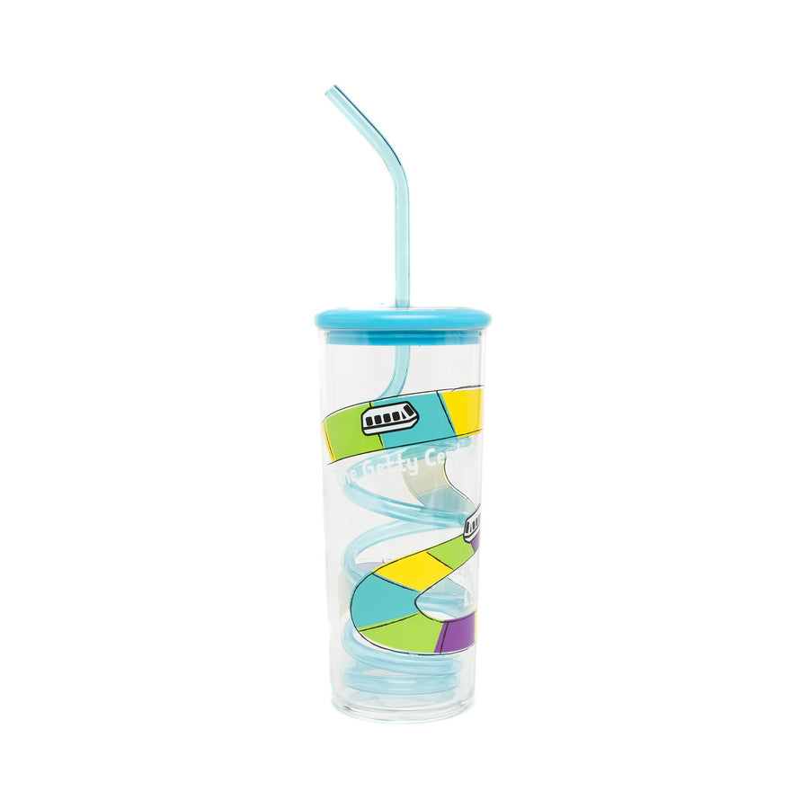Getty Tram Silly Straw Cup