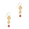 Etruscan Rosette Earrings - Double Drop
