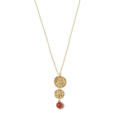 Etruscan Rosette Double Drop Necklace