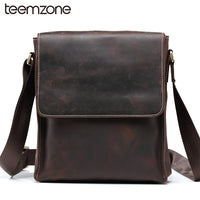 Leather Messenger Shoulder Bag