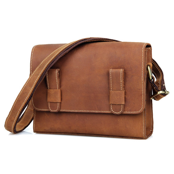 Vintage Designed Leather Messenger Bag
