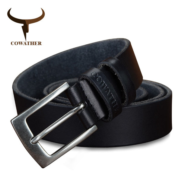 COWATHER leather men belts