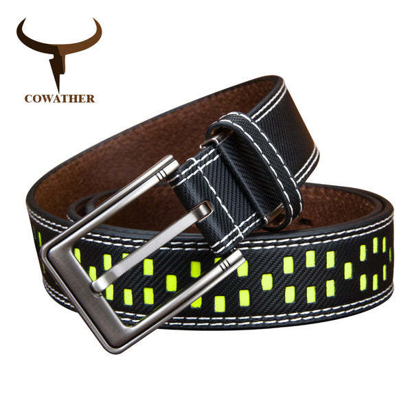 COWATHER Fluorescence  pin buckle belt