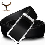 COWATHER 2017 Silver Trim Automatic Buckle Genuine Leather Belt