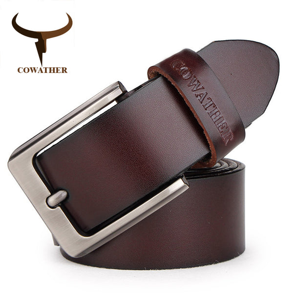 COWATHER leather belt for casual wear