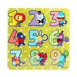 Wooden Puzzle Numbers 1-9 with Cartoon Animals