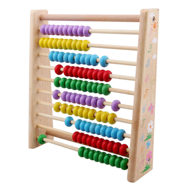 Wooden Abacus Toys Colourful  Beads - Children's Early Math Learning Toys