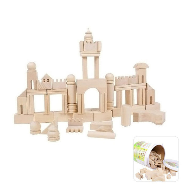 High Quality 65 pcs. Wooden Building Block Toy