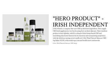 Mentioned as the Hero Product in the Irish Independent - 03 Oct 2020