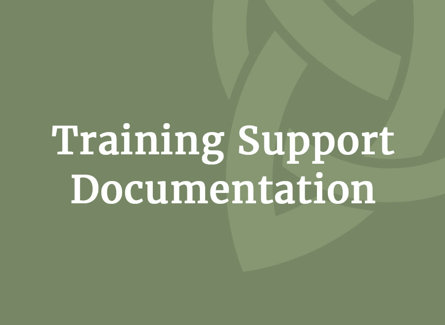 Training Support Documentation