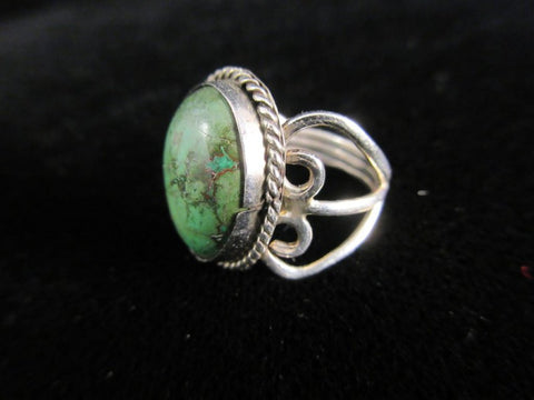 Turquoise Stone Sterling Silver Size 6 Ring
