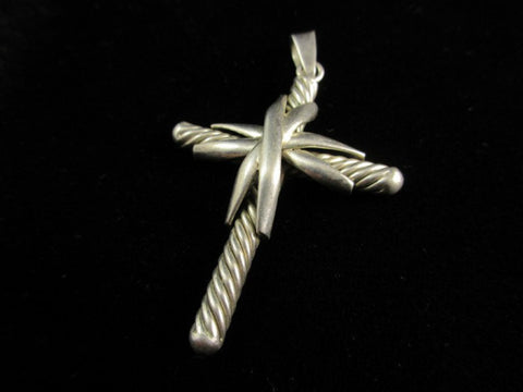 Sterling Silver Vintage Old Mexico Cross