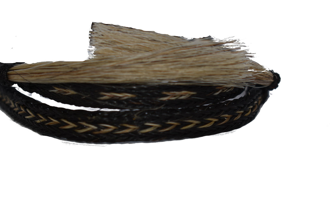 Black and Tan Horsehair Hat Band
