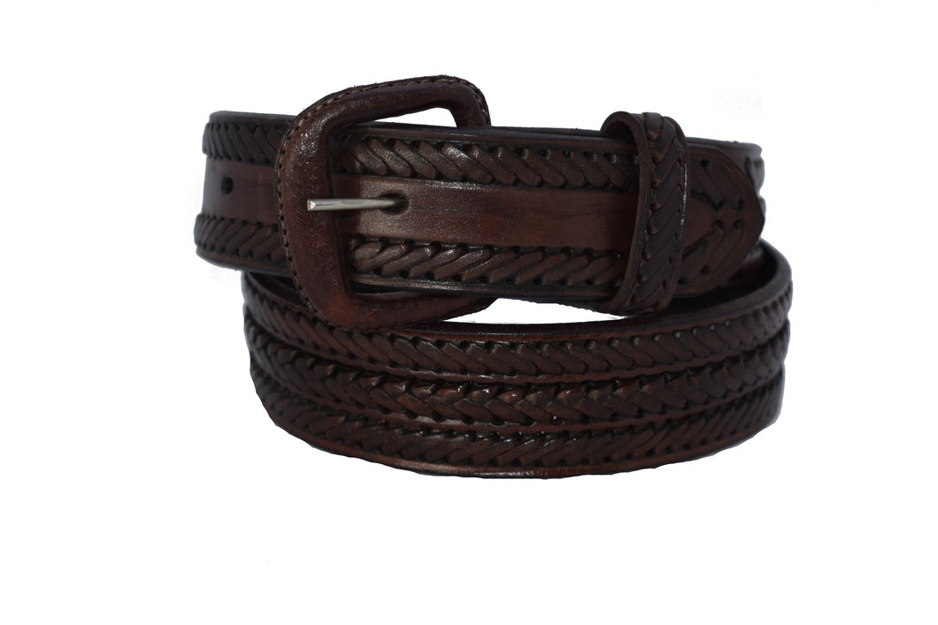 Men's Casual Leather Weave Belt