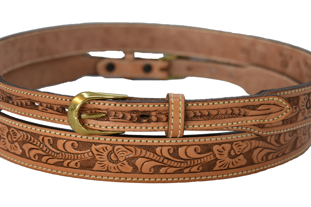 Men's  Western  Belt with Floral Design